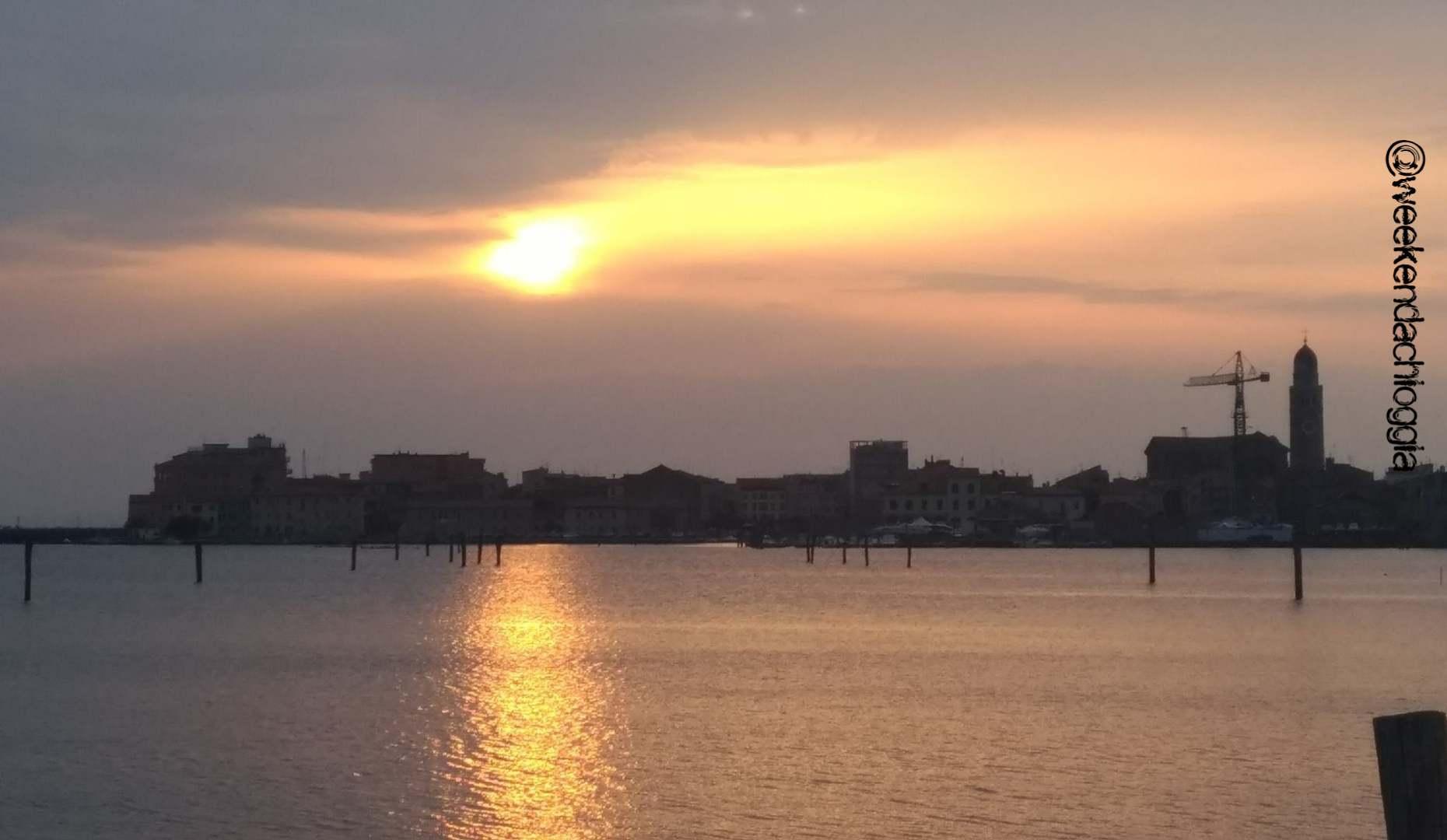 foto del tramonto a Chioggia e Sottomarina