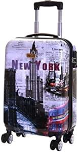 Karabar Trolley fantasia disegno New York, Bagaglio a Mano Rigido e Leggero 55 cm, 2,5 kg, 35 litri