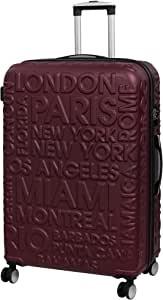 Luggage Destinations Valigia rigida Rossa, 80 cm, 161 litri, con i nomi città