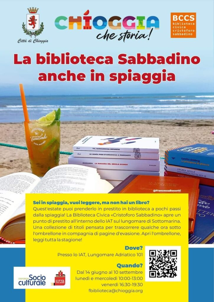 biblioteca in spiaggia