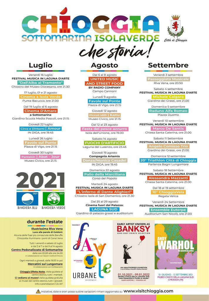 eventi Chioggia estate 2021 Sottomarina