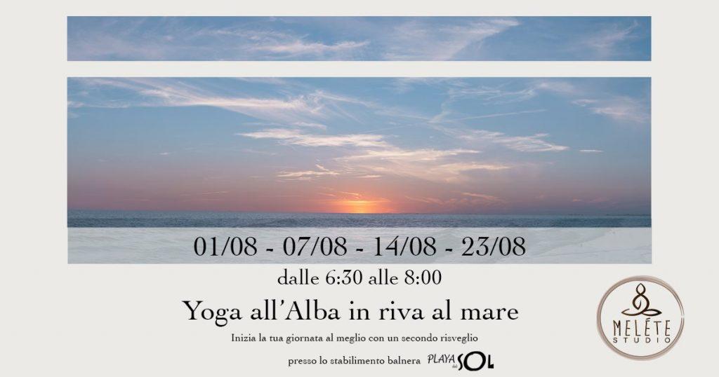 gli eventi in spiaggia yoga sottomarina alba