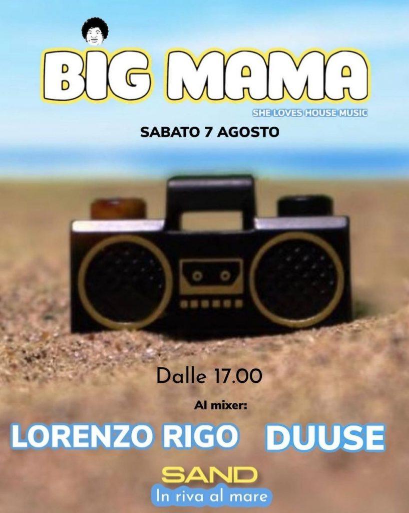 big mama spiaggia musica Sottomarina